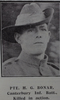 Portrait, Private Hugh Gordon Bonar (6150) (8152) (6/589) from the Weekly News 1915. Kindly provided by Onward Project, Phil Beattie & Matt Pomeroy. No Known Copyright.