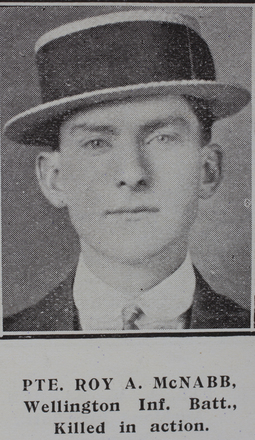 Portrait, Private Roy Alexander (10/830) from the Weekly News 1915. Kindly provided by Onward Project, Phil Beattie & Matt Pomeroy. No Known Copyright.