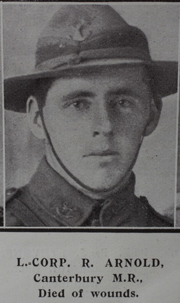 Portrait, Lance-Coporal Rory Arnold (7/157) from the Weekly News 1915. Kindly provided by Onward Project, Phil Beattie & Matt Pomeroy. No Known Copyright.