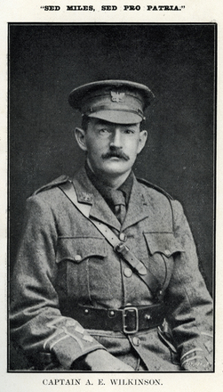 Portrait of A. E. Wilkinson. Auckland Grammar School chronicle. 1915, v.3, n.2. Image has no known copyright restrictions.