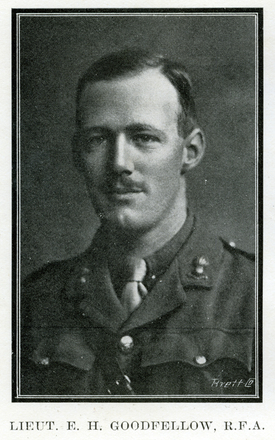 Portrait of E. H. Goodfellow. Auckland Grammar School chronicle. 1916, v.4, n.1. Image has no known copyright restrictions.