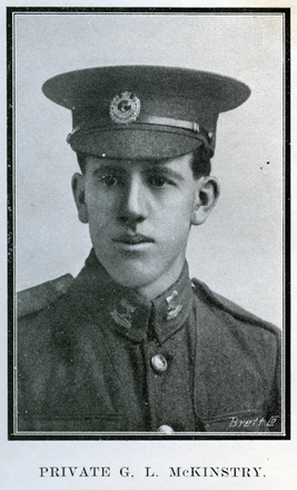 Portrait of G. L. McKinstry. Auckland Grammar School chronicle. 1916, v.4, n.1. Image has no known copyright restrictions.