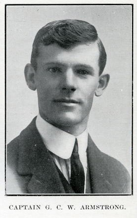 Portrait of G. C. W. Armstrong. Auckland Grammar School chronicle. 1916, v.4, n.2. Image has no known copyright restrictions.