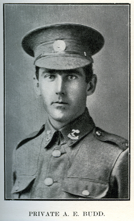 Portrait of A. E. Budd. Auckland Grammar School chronicle. 1916, v.4, n.2. Image has no known copyright restrictions.