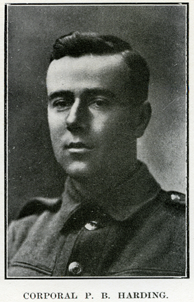 Portrait of P. B. Harding. Auckland Grammar School chronicle. 1916, v.4, n.2. Image has no known copyright restrictions.