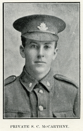 Portrait of S. C. McCarthny. Auckland Grammar School chronicle. 1916, v.4, n.2. Image has no known copyright restrictions.