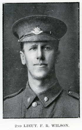Portrait of F. R. Wilson. Auckland Grammar School chronicle. 1916, v.4, n.2. Image has no known copyright restrictions.