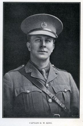 Portrait of H. W. King. Auckland Grammar School chronicle. 1917, v.5, n.1. Image has no known copyright restrictions.