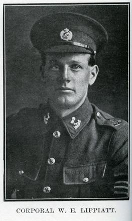Portrait of W. E. Lippiatt. Auckland Grammar School chronicle. 1917, v.5, n.1. Image has no known copyright restrictions.