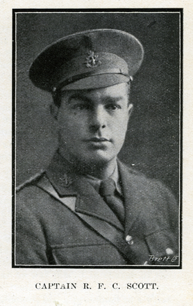 Portrait of R. F. C. Scott. Auckland Grammar School chronicle. 1917, v.5, n.2. Image has no known copyright restrictions.