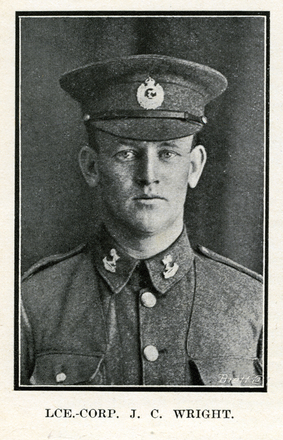 Portrait of J.C. Wright. Auckland Grammar School chronicle. 1917, v.5, n.2. Image has no known copyright restrictions.