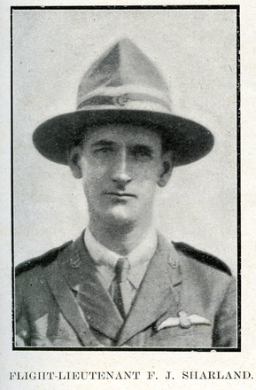 Portrait of F. J. Sharland. Auckland Grammar School chronicle. 1918, v.6, n.1. Image has no known copyright restrictions.