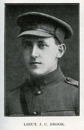 Portrait of J.C. Brook. Auckland Grammar School chronicle. 1918, v.6, n.2. Image has no known copyright restrictions.
