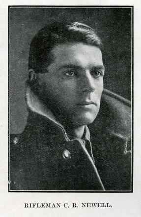 Portrait of C. R. Newell. Auckland Grammar School chronicle. 1918, v.6, n.2. Image has no known copyright restrictions.