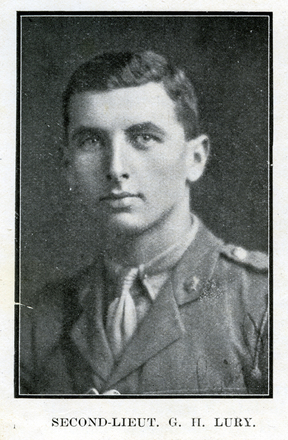 Portrait of G. H. Lury. Auckland Grammar School chronicle. 1918, v.6, n.2. Image has no known copyright restrictions.