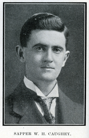 Portrait of W. H. Caughey. Auckland Grammar School chronicle. 1918, v.7, n.1. Image has no known copyright restrictions.
