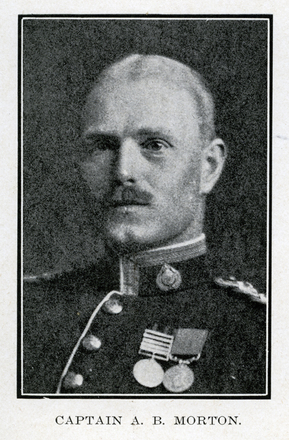 Portrait of A. B. Morton. Auckland Grammar School chronicle. 1918, v.7, n.2. Image has no known copyright restrictions.