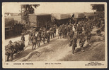 Postcard sent by Martin Brown (26786) to his sister. Daily mail, Crown Copyright (1917) 153 Anzacs in France. Off to the trenches. Auckland War Memorial Museum call no. D531 F8 C953.4. Image has no known copyright restrictions.