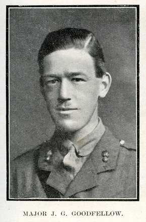 Portrait of Goodfellow. Auckland Grammar School chronicle. 1918, v.6, n.1. Image has no known copyright restrictions.
