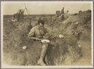 Unknown photographer (1918) New Zealand's first V.C. Lit. Bassett V.C. taking breakfast. Auckland War Memorial Museum - Tamaki Paenga Hira. PH-ALB-418 H979.