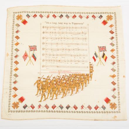souvenir cloth: It's a Long Way to Tipperary [W2443] - obverse