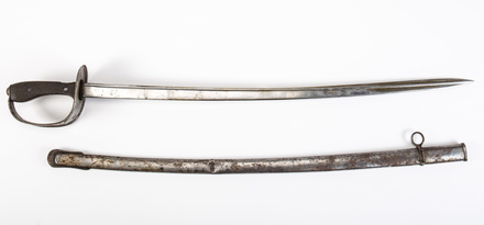 Turkish Cavalry sword and scabbard, 1926.93