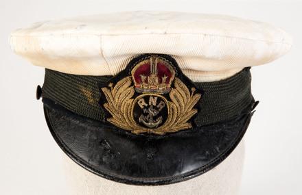 Naval Cap of Lieutenant W.E. Sanders