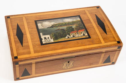 2006.92.6 souvenir box made by a German internee