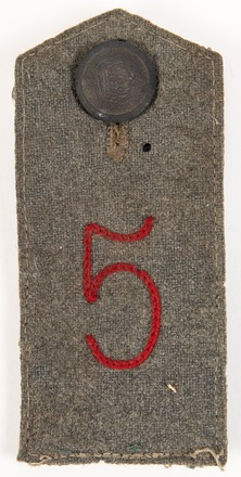 German 5 Infantry Regiment shoulder strap