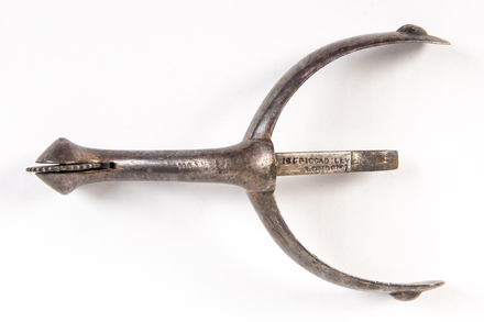 single spur with boot inset