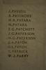 Auckland War Memorial Museum, World War 1 Hall of Memories Panel Passell, J. - Parry, W.J. (CC BY John Halpin 2010)