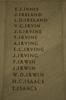 Auckland War Memorial Museum, World War 1 Hall of Memories Panel Innis, E.J. - Isaacs, T. (photo J Halpin 2010)