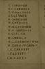 Auckland War Memorial Museum, World War 1 Hall of Memories Panel Gardner, C. - Garry, L.M. (photo J Halpin 2010)