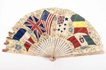 Souvenir paper fan