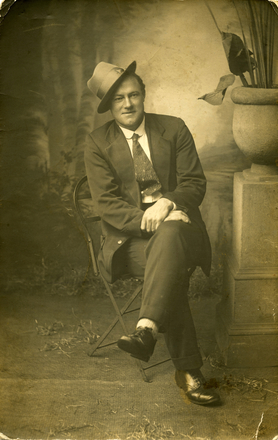 Seated studio portrait of Edward Crase (24429). Image kindly provided by Family. Image has no known copyright restrictions.