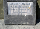 Headstone for James Charles Mouat (s/n 39274) at Purakaunui Cemetery. Image kindly provided by Michael Broad. Image has no known copyright restrictions.