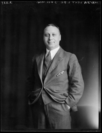 Doctor Louis Levy (1888-1947). S P Andrew Ltd :Portrait negatives. Ref: 1/1-018927-F. Alexander Turnbull Library, Wellington, New Zealand. http://natlib.govt.nz/records/23018194