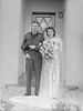 Linton King and Joyce Miller on their wedding day.Auckland War Memorial Museum-Tāmaki Paenga Hira (PH-2013-7-TC-B32-17). © Auckland Museum CC BY