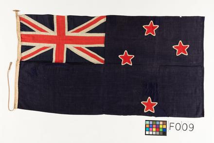 NZ Blue Ensign, WW1 [F009, W0784] - colour chart