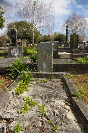 Headstone of R. Miller. Pukekohe Cemetery, Wellington Street, Pukekohe, New Zealand. Image provided by John Halpin (2015). Image has no known copyright restrictions.