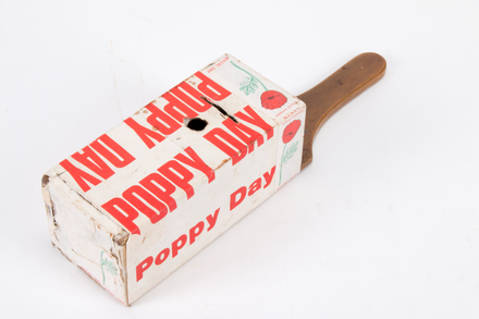 collection box, Poppy Day 2015.89.1