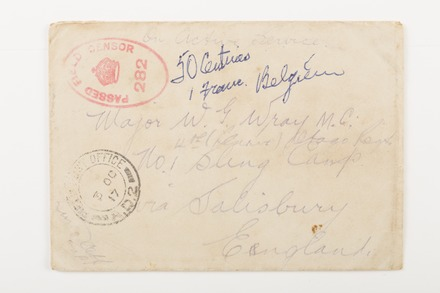 envelope & banknotes (x3) 1998X2.16