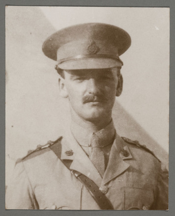 Portrait of Major Blake. Major Thomas A. Blake photograph album. Auckland War Memorial Museum - Tamaki Paenga Hira (PH-2014-69-1-Ip1).