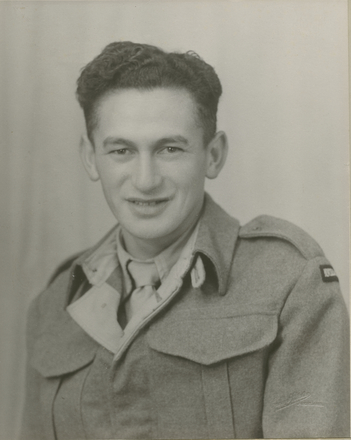 Portrait of Hohepa Shortland (Josie) (204192) in WWII uniform. Image kindly provided by whanau (April 2016). Image may be subject to copyright restrictions.
