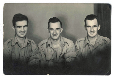 Portrait of the three Lovell Brothers. From left: Norman Lovell (s/n 21946), Reginald Lovell (s/n 12565), Cyrill Lovell (s/n 21945). Image kindly provided by John Fisher. Image may be subject to copyright restrictions.
