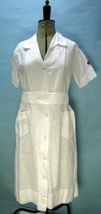 New Zealand Red Cross uniform - overall, circa 1940s  [1995.146.1.1]