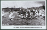 Photograph of Paris Rugby Match, 1917. Tom French (s/n 16/972) is the tall player second from left.Image kindly provided by Karl French. Image has no known copyright restrictions.