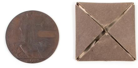 commemorative medal, folder and envelope