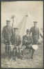 Unknown photographer (n.d.) [Group portrait in front of tent.] Auckland War Memorial Museum album 545 loose p.2.