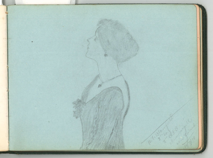 Sketch by Pvt. W. Blomfield. Swarbrick, Margaret. Miscellaneous papers, 1914 - 1947. Auckland War Memorial Museum Library. MS-1468. Image has no known copyright restrictions.